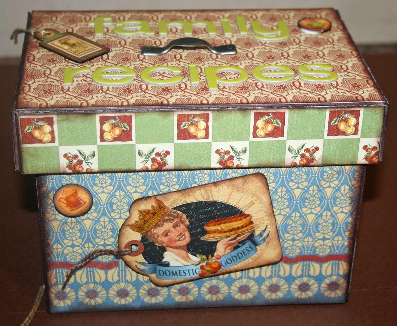 Myra B recipe box