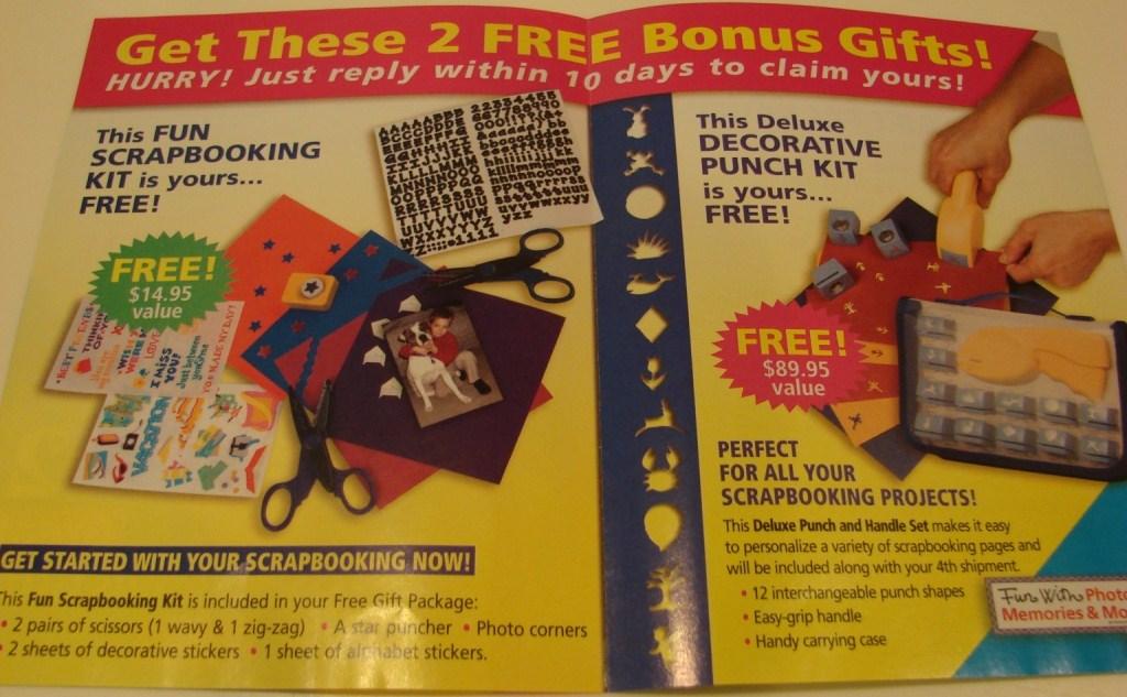 Free bonus gifts