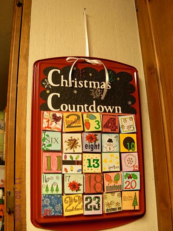 Christmas Countdown Calendar Vicky Martin