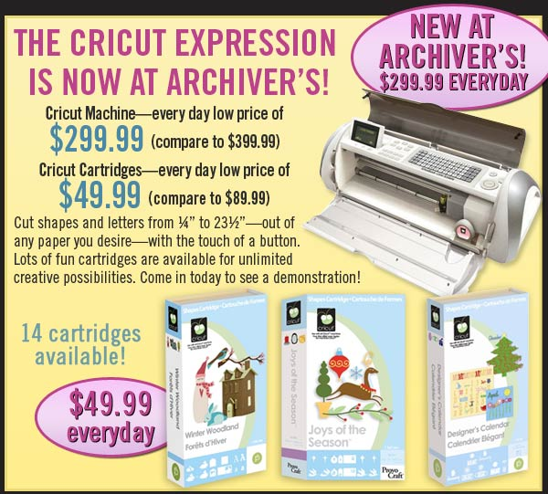 Cricut at Archivers