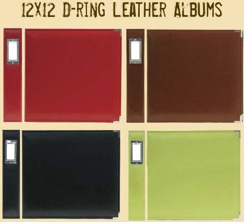 D-Ring Leather Albums