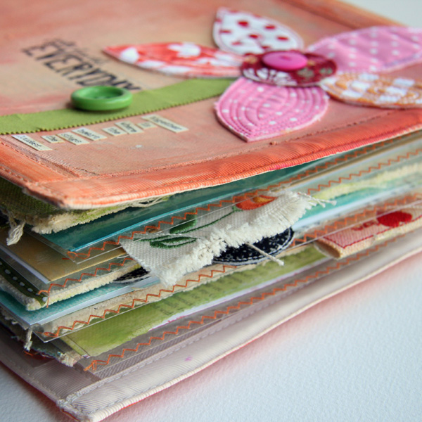 Fabric scrapbooking