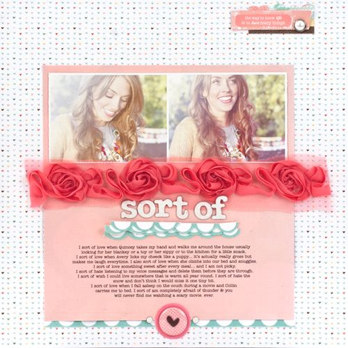 Dear Lizzy layout - roses