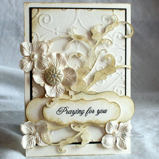 Couture Cardstock Card - Monochromatic White