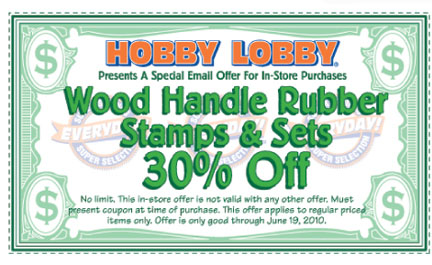 Hobby Lobby Coupon thru June 19