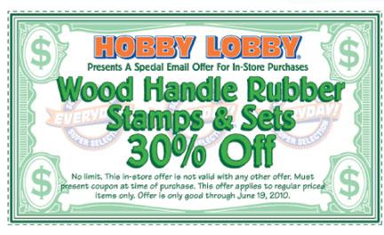 Hobby Lobby Coupon thru June 19