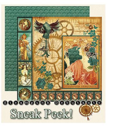 Graphic 45 Sneak Peek Steampunk Debutante