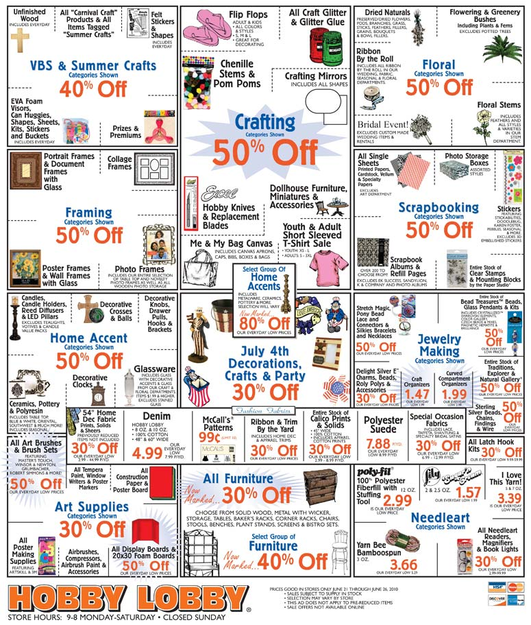 Hobby Lobby Ad thru June 26
