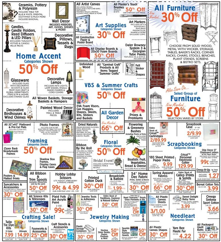 Hobby Lobby Ad thru Jul 10